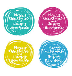 christmas set of hand drawn scribble design vector image vector image