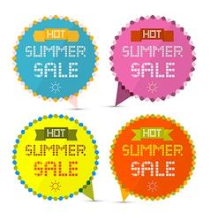 Hot Summer Sale Paper Retro Labels Set vector image