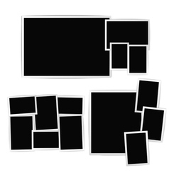 Photo album composition vector image vector image