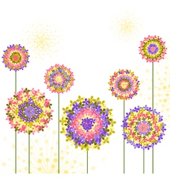 Springtime Colorful Hydrangea Flower Background vector image