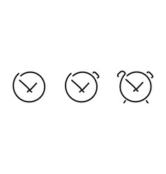 Time set icons vector image vector image