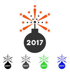 2017 petard flat icon vector