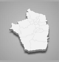 3d isometric map riyadh is a region saudi vector