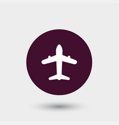 airplane icon simple vector image