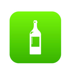 alcohol bottle icon green vector image