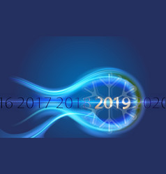 background silvery inscription happy new year vector image