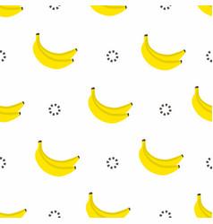 banana seamless pattern bananas with circles vector image