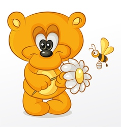 Bear with Flower vector image