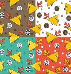 Bird pattern design vector