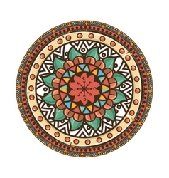 Bohemian mandala ethnic decoration vector