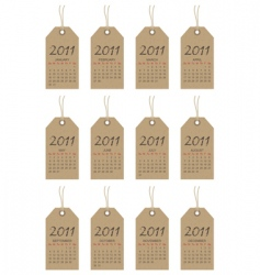 calender tags for 2011 vector image