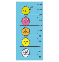 children meter wall vector image