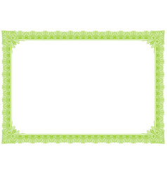 classic green outline style border vector image