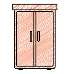 Closet bedroom isolated icon vector