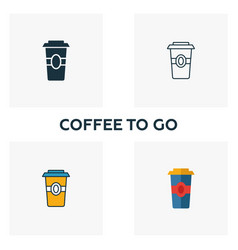 Coffee to go icon thin line symbol design from vector