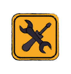 Construction tools equipment vector