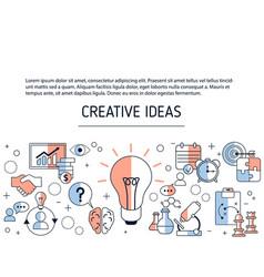 creative idea and innovation background creative vector image