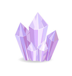 crystalic stone purple color vector image