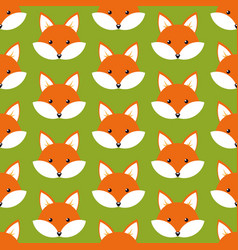 Cute cartoon foxes vector