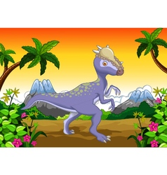 Dinosaur Stegosaurus cartoon for your design vector image