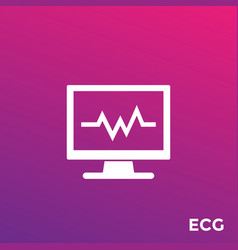 Ecg heart diagnostics icon vector