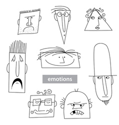 emotions of different people vector image