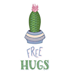 free hugs card template vector image
