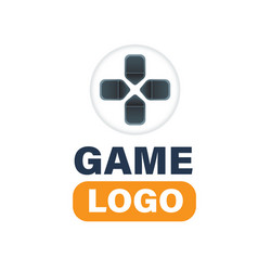 game logo controller directional pad background ve vector image