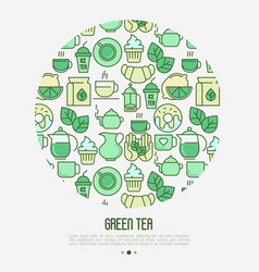 green tea ceremony concept vector image