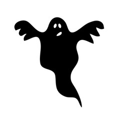 halloween ghost silhouette icon symbol design vector image