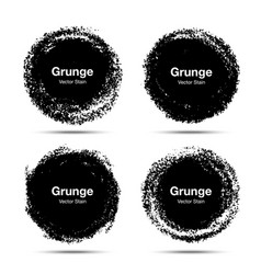 hand drawn circle brush circular grunge doodle vector image