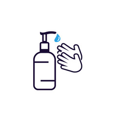 Hand sanitizer icon design template isolated vector