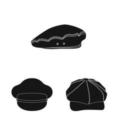 Headgear and cap logo set vector