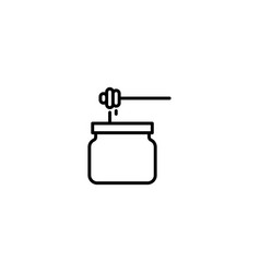 honey drip icon vector image