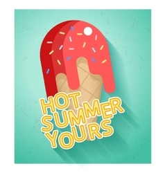 Hot summer sale banner vector