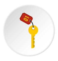 hotel room key icon circle vector image