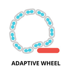 Icon future technology - adaptive wheel vector