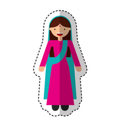 indian woman avatar character vector image