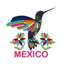 Isolated image mexican bird vector