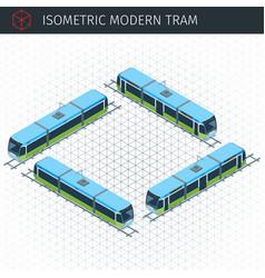 Isometric city tram vector