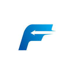 letter f with arrow logo design template vector image