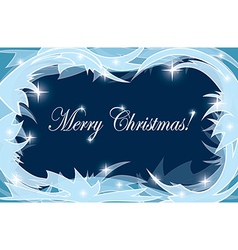 light and dark background with frosty frame vector image