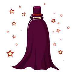 Magician in a purple robe is covered vector