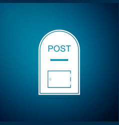 mail box icon post box icon on blue background vector image