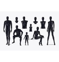 Mannequins set vector