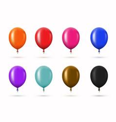 Modern glossy helium balloons set vector