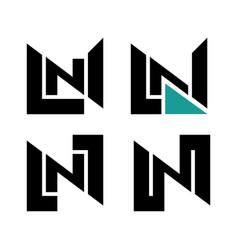 n logo monogram vector image