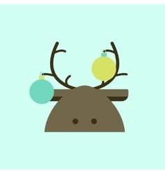 New year deer deer decorated vector