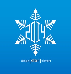 Original snowflake with new year date vector image