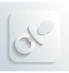 Pacifier icon vector